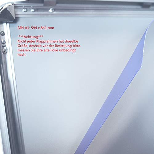 5 Stück DIN A1 Ersatzfolie Schutzfolie Folie für Kundenstopper Plakatrahmen