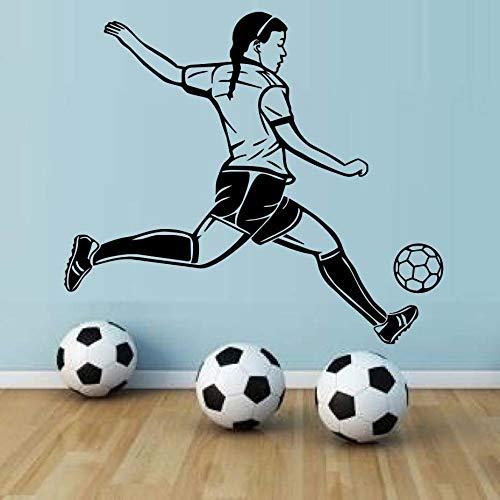 Wandaufkleber für Mädchenzimmer schmücken hochflurige Wandaufkleber warm; Fußballspieler Wandbilder Wasser Fußballspieler Hintergrundbilder66cm X 58cm