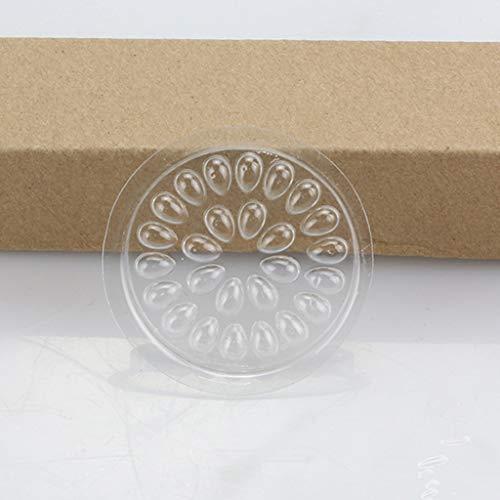S-TROUBLE 10 Pcs Jetable Forme De Fleur Extension De Cils Porte-Colle Garniture Joint Pads en Plastique Transparent Cils Palette Adhésive avec 27 Puits Outils De Maquillage
