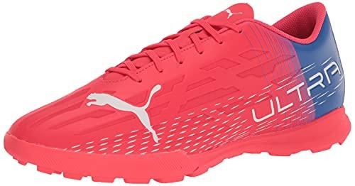 PUMA Men's Ultra 4.3 TT Soccer Shoe, Sunblaze White-Bluemazing, 8.5