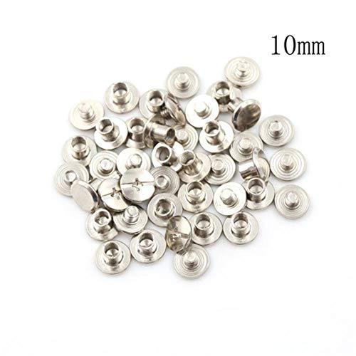 20 Stück 12 mm / 10 mm / 8 mm / 6 mm / 5 mm / 4 mm Chicago-Schrauben, Fotoalbum-Schrauben, Druckknopfschraube, Montage-Schrauben, M5 10 mm