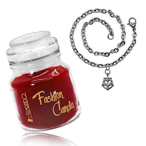tumundo Schmuck-Kerze Adventskerze Fashion Candle Armband Damen Herz Kirsche Anker Schnee-Flocke Weihnachten, Variante:Variante 3