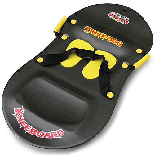 Flexible Flyer Trick 360 Knee Sled. Kids Foam Plastic Kneeling Snow Slider Board, 42 x 21.5 x 2...