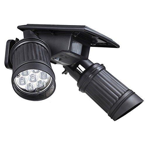 Xingyue Aile buitenverlichting & speelparaties instelbare 14 LED zonnelschijnwerper wandlamp PIR bewegingssensor lamp pad tuin binnenplaats buiten waterdichte wandlamp (1 stuks)
