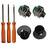 Reemplazo del controlador 3D Rocker Joystick Axis Módulo analógico del sensor, Thumbstick Rrips Reemplazo para Xbox One , T8 T10 Kits de reparación de destornilladores Torx para Xbox One Controller