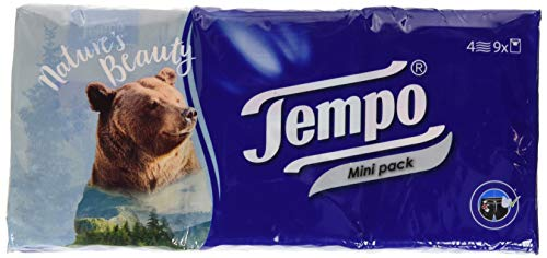 Tempo Taschentücher, Minipack, 9 x 5 Stück