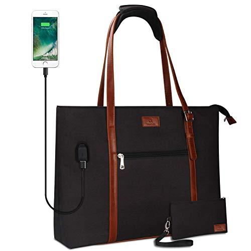 USB Laptop Tote Bag,Large Woman Work Bag Purse Teacher Bag...
