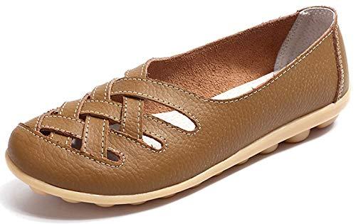 [Vocnako] レディース安全靴 ナースシューズ ウォーキングシューズ ダイエットシューズ 看護師 介護士 本革 厚底靴 履きやすい 疲れにくい 女性 用 作業靴 軽量 スニーカー 通勤 通学