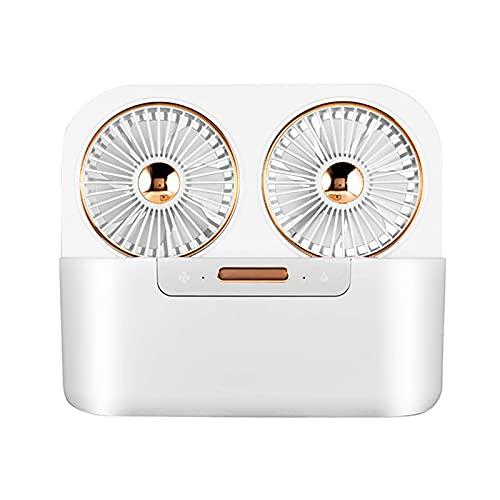 vania, ventola del condizionatore d aria portatile USB, mini raffrescatore d aria evaporativo, 3 velocità del vento e serbatoio grande da 1,4 litri per ufficio, casa, dormitorio, viaggio, verde bianco