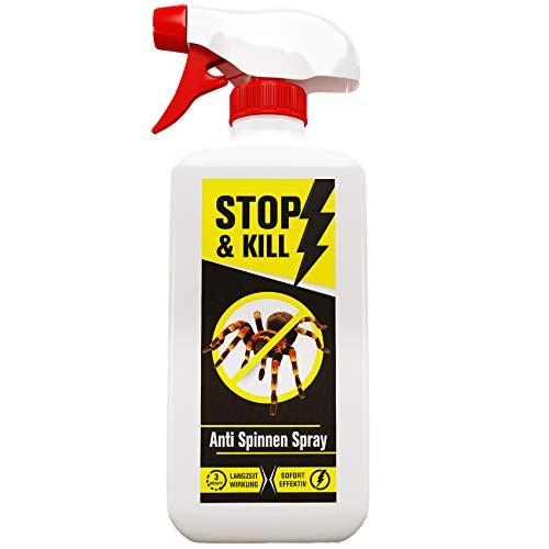 STOP & KILL Anti Spinnen Spray 500 ml | Hochwirksam zur Spinnen-Bekämpfung | Sofort- & Langzeitwirkung | Geruchlos | Alternative zum Spinnenfänger