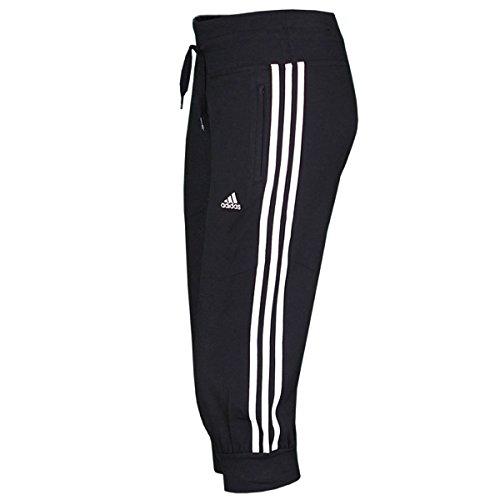 adidas Damen Trainingshose 3/4 Essentials 3-Stripes, black/white, 36