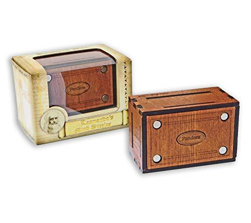 Logica Juegos Art. Pandora Secret Box - El Cofre Secreto - Jurgen Reiche Edition - Rompecabezas de Madera - Caja Secreta - Dificultad 5/6 Increíble - Colección Leonardo da Vinci
