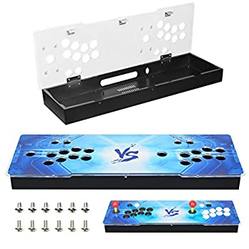 ARCADORA DIY Arcade Console Case Acrylic Panel Video Game Machine Box Replacement Case Supports 8 Buttons Home Cabinet 2 Players DIY Joystick Accessories Kit Empty Box