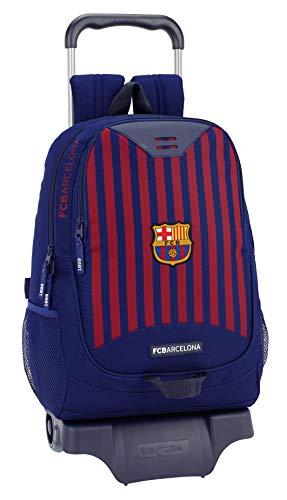 FCB barcelona mochila grande ruedas, carro, trolley, Azul, 44 cm