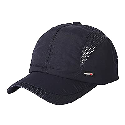 Bestshope Sports Cap Lightweight Breathable Soft Casual Strapback Trucker Hiking Leisure Breathable Cap Navy