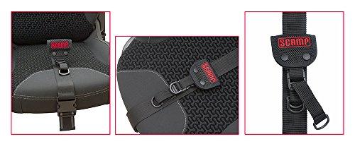 MEHR SICHERHEIT Scamp - SLIM Schwangerschaftsgurt/Sicherheitsgurt/Gurtführung für Schwangere - verstellbare Gurtband Länge | Auto/KFZ NEU (Schwarz)