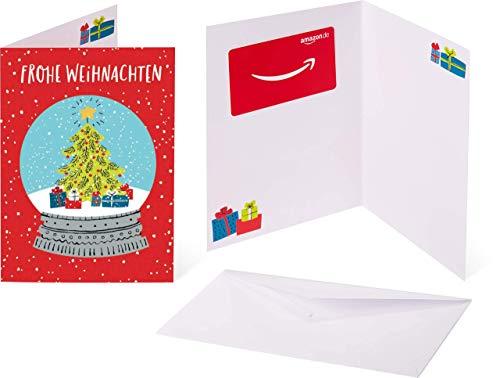 Amazon.de Geschenkkarte in Grußkarte (Schneekugel)