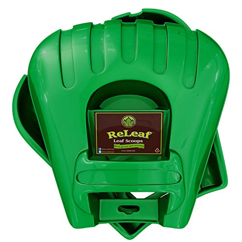 GARDEASE ReLeaf Leaf Scoops: Ergonomic, Large Hand Held Rakes for Fast Leaf & Lawn Grass Removal