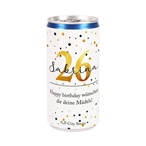 Herz & Heim® City Secco als Geburtstagsgeschenk mit Namensaufdruck Golden Age