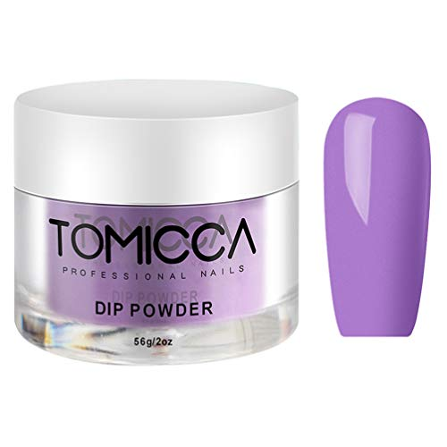 Tomicca Dipping Powder System Dip Powders Acryl Puder Für Nägel Purple Colors Nail DIY Manicures No Need UV/LED Lamp
