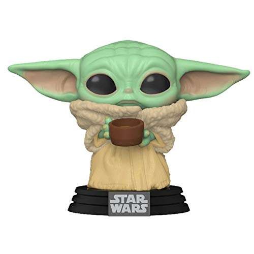 Star Wars: Mandalorian-The Child Collectible Toy, Baby Yoda Stand con Taza, Multicolor