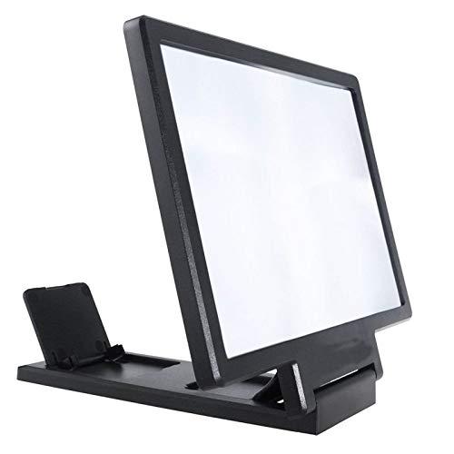 QINGJIA Pantalla 3D Amplificador del Soporte del teléfono móvil de la Lupa de Alta definición for el sostenedor de la Pantalla de vídeo Plegable ampliada la protección de Ojos Lectura/Obeservación /