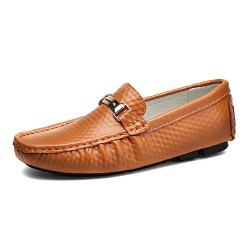 Zapatos Casuales Hombres Moda Cuero Transpirable A Cuadros Resbalón en Pisos Decoración...