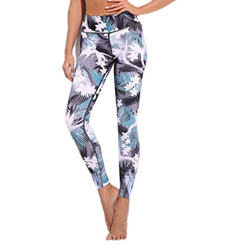 Pantalones Yoga Mujeres, ❤️Xinantime Pantalones Deportivos de Entrenamiento Deportivo Pantalones de Gimnasio Fitness Leggings Jumpsuit para Mujer Ropa Deportiva (M, ❤️Gris)