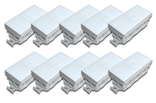 10 Stück Abzweigdose 88 x 42 x 37 mm   IP55 Feuchtraum   Verbindungsdose   Aufputz