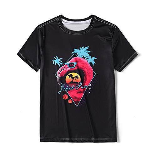 CH-BZ 3D gráfico Verano Manga Corta Casual niñas tee Top Camiseta Unisex 3D Impreso Tops Tees Casual Manga Corta Camisetas Camisetas t-Shirts Tops Casuales para Hombres,Dt1049,XL