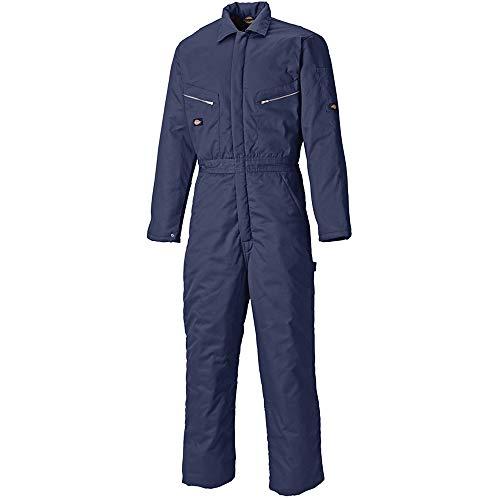 Dickies - Mono de Trabajo Modelo Lined Hombre/Caballero - Ropa de Trabajo (Grande (L)) (Azul Marino)