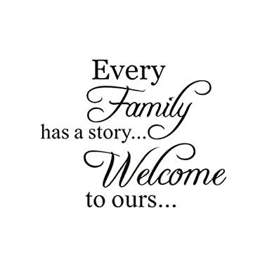 Hot Sale!!! Wall Stickers,Jushye Removable Art Home Room Decor Wall Decals Every Family Has A Story Welcome To ours (B)