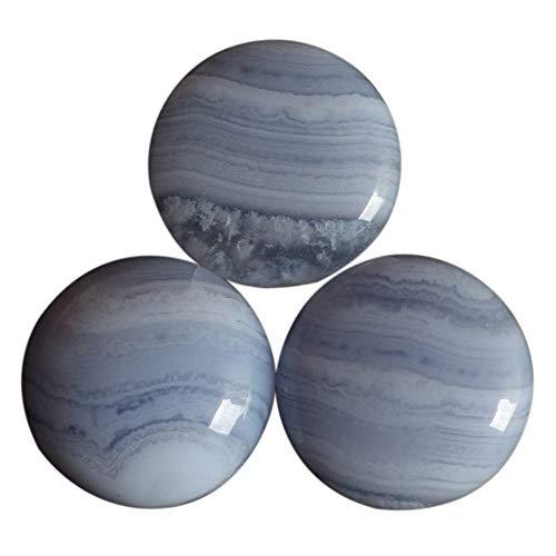 24 mm runde Form, brasilianisches natürliches blaues Spitzen-Achat, Cabochon, Kristalle für Heilung, Mineralstein, BL 24 mm