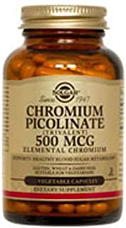 Solgar - Chromium Picolinate 500 mcg, 120 Vegetable Capsules