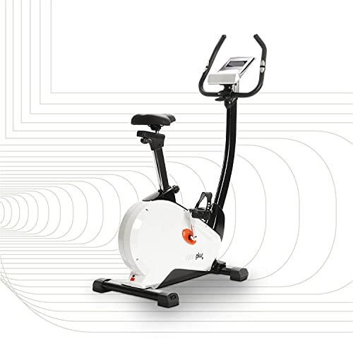 SportPlus Fahrradergometer mit App-Steuerung, Wattanzeige, ca. 10 kg Schwungmasse, 24 Widerstandsstufen, Handpulssensoren, Nutzergewicht bis 130 kg, Sicherheit geprüft, SP-HT-9800-iE