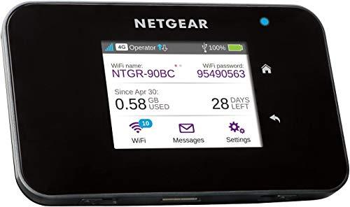 NETGEAR Routeur 4G Modem 4G, Nighthawk Routeur 4G LTE AC810 - débit descendant jusqu'à 600Mbps | Connexion WiFi jusqu'à 15 appareils | Crée un WLAN n'importe où | Déverrouillé compatible toute SIM