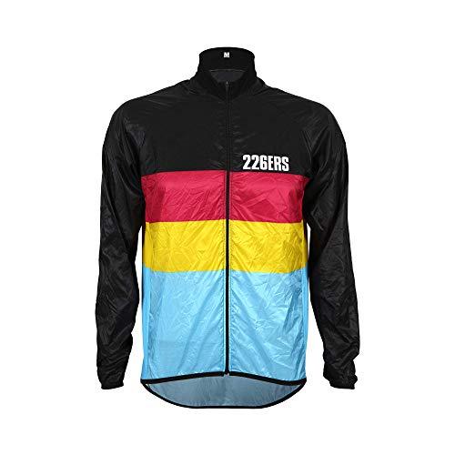 226ERS Wind Jacket - Chaqueta Cortavientos Ultraligera Hydrazero Black para Ciclismo y Running