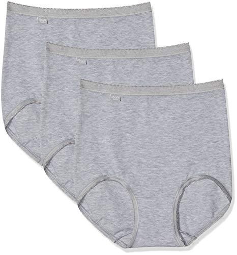 Sloggi Damen Taillenslip Basic+ Maxi (3er Pack), Grau (Grey Combination M), 50 EU