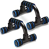 SIEBIRD Push Up Bars - Home Workout Equipment Pushup Handle with Cushioned Foam Grip and Non-Slip Sturdy Structure - Portable Pushup Stands for Home Fitness - Push Up Handles for Floor Workouts