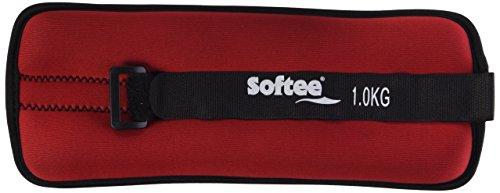Softee 24104.003 Juego Tobilleras muñequeras, Unisex Adulto, Rojo, 1 kg