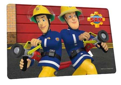 p:os Feuerwehrmann Sam Frühstücksbrettchen (mit Elvis)