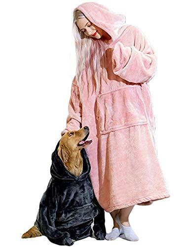 TRISTIN Sweatshirt für Damen, Sherpa, flauschig, für Männer, warm, bequem, übergroß, tragbar, Taschendecke, Kapuzenpullover für Erwachsene, Unisex und Einheitsgröße