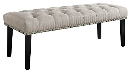 Learn More About Pulaski Beige Diamond Button Tufted Upholstered Bed Bench Accent Seating,