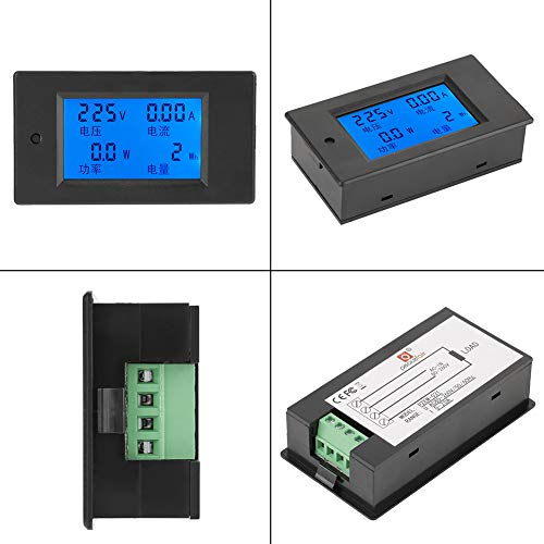 Akozon PZEM-021 LCD Display Digital AC Voltage Current Power Energy Meter 20A AC80-260V used for voltage and current power measurement