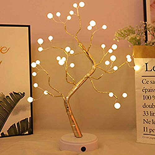 MOOUK Bonsai Baum Licht, AST Lichter, LED Baum Lichter mit 36/108 LED`S, Tischlampe Blumen Schreibtisch Baum Tischlampe Lampe Nachtlicht USB Aufladen für Heim Schlafzimmer Dekor