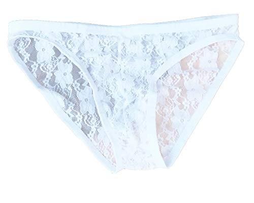 Kwelt Hombre Sexy Tanga Ropa Interior Erotica Encaje Ropa Interior de Encaje Transparente Slip Tanga de Hilo para Hombres