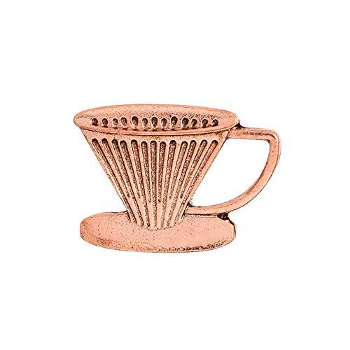 Broche Retro Vintage, cafetera, taza de café, filtro de enjuague manual, joyería...