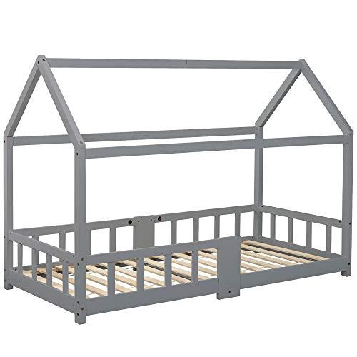 Kays Bett Bettgestell Futonbett Futonbett Palettenbett Hölzernes Bett Für Kinder-Kinder-Haus-Bett-Rahmen Einschließlich Tabellenfallschutz - 90 X 200 cm