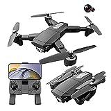 6K Drone con cámara, Drone plegable, Adecuado para principiantes adultos, WiFi FPV RC Quadcopter Mantenimiento de altura Modo sin cabeza, una tecla fuera del suelo Control de la aplicación Tiempo de v