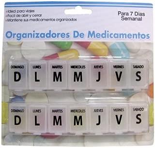 7-day Spanish-language pill case